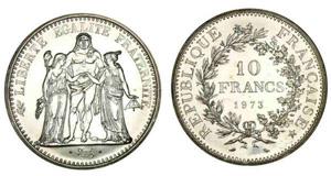 10 francs hercule - pièce argent