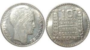 10 francs turin - pièce argent