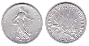 1 franc semeuse - pièce argent