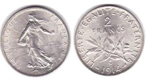2 francs semeuse - pièce argent