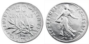 50 centimes semeuse - pièce argent