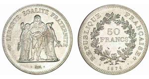 50 francs hercule - pièce argent