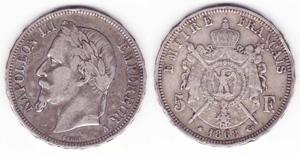 5 francs ecu - pièce argent