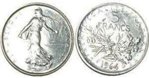 5 francs semeuse - pièce argent